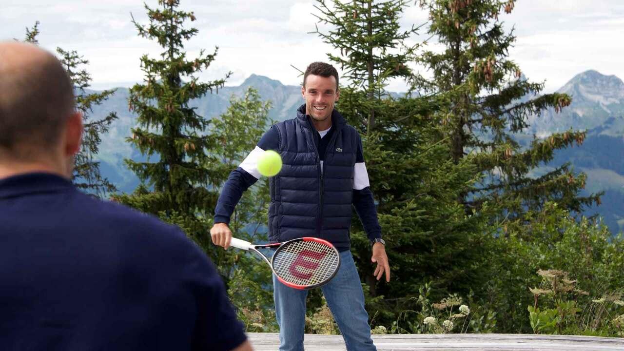 Bautista Agut And Coach Visit Gstaad Mountain Region