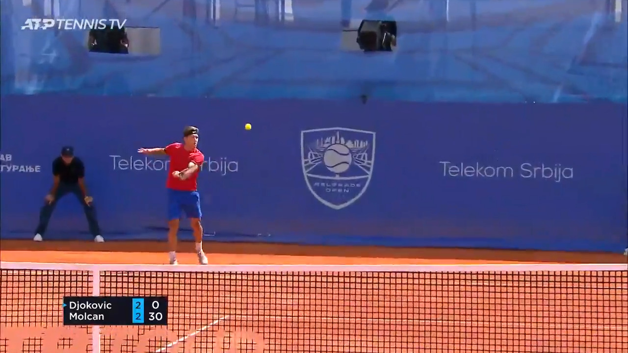 Hot Shot: Molcan's Great Disguise On Drop Shot Against Djokovic
