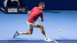 Hot Shot: Federer's Blistering Backhand Pass In The Basel Final