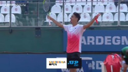 Match Point Celebration: Sonego Wins Cagliari 2021 Title