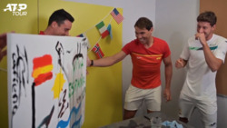 Uncovered: Behind The Scenes At The ATP Cup Painting Challenge