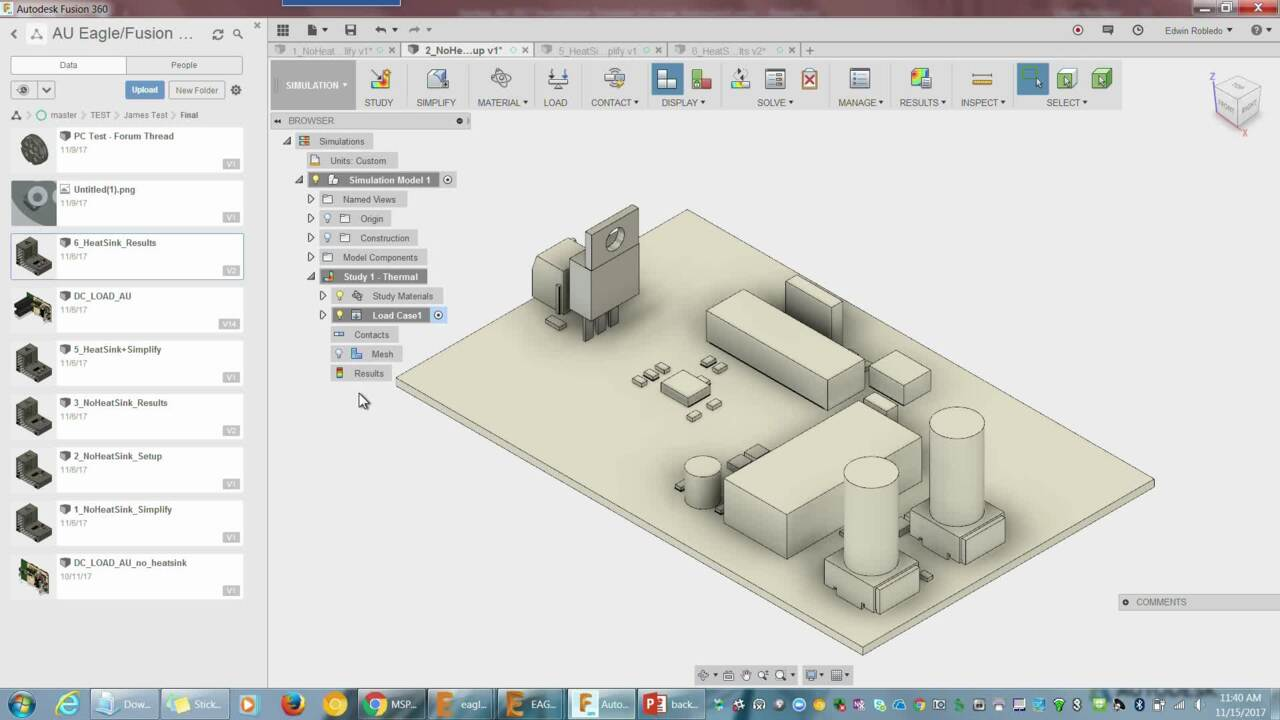 Designing A Power Supply Iterating Between Eagle And Fusion 360 Simulation Autodesk University