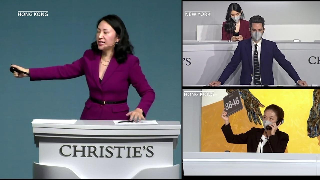 佳士得香港現代及當代藝術系列拍賣成交總額高達17.3億港元, auction at Christies