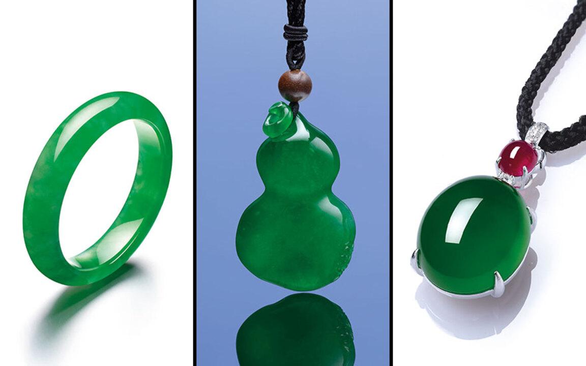 Myanmar Grade A Green Jadeite Double Teardrop-Shape Earring Gemstone, Natural Stone, Precious Stone