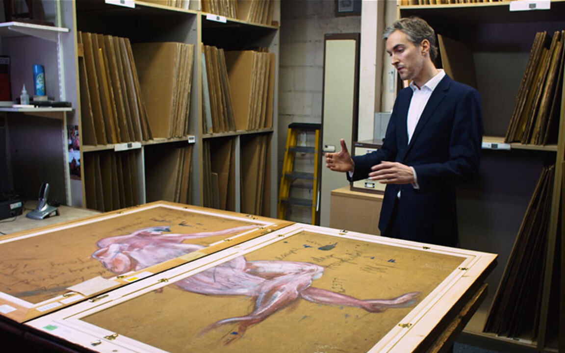 Discovery: Two halves of an un auction at Christies