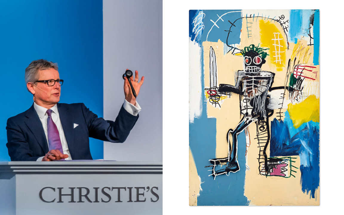 Basquiat's Warrior becomes mos auction at Christies