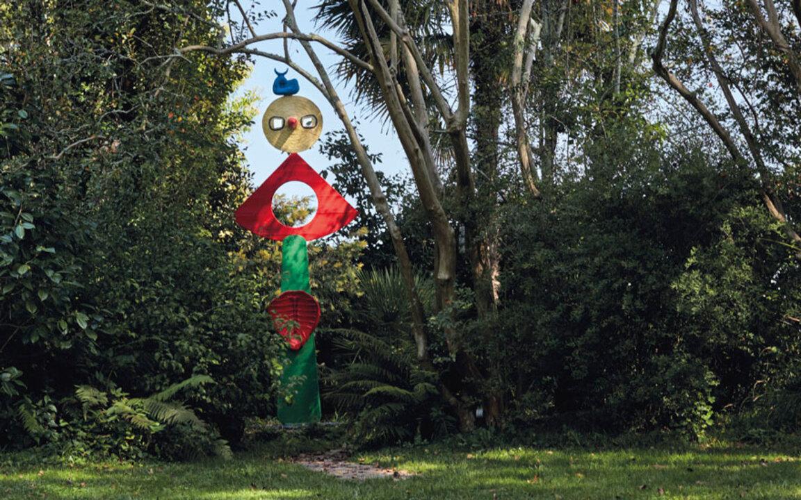 the sculpture garden created
