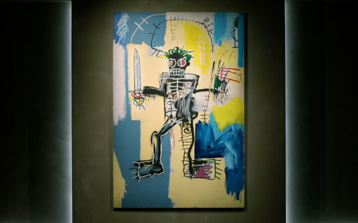 Basquiat's Warrior — the most  auction at Christies