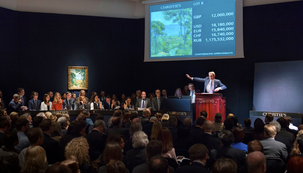Impressionist/Modern + Art of  auction at Christies