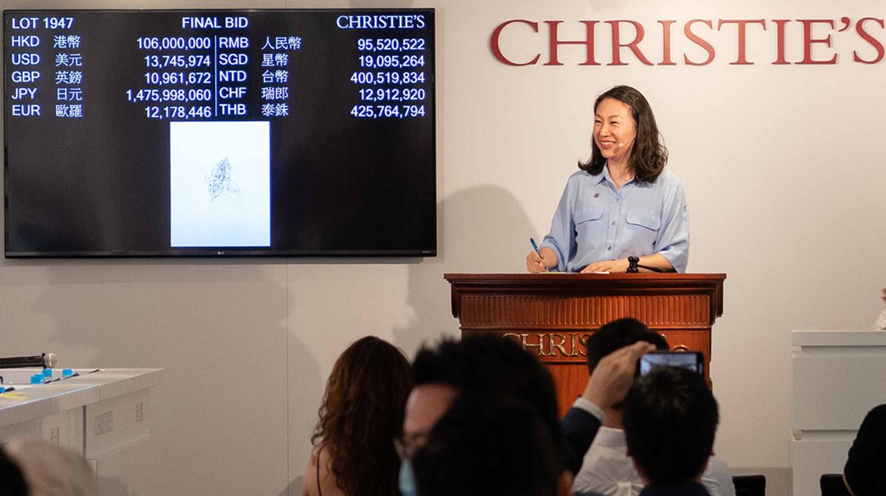 佳士得持续引领全球珠宝拍卖市场 auction at Christies