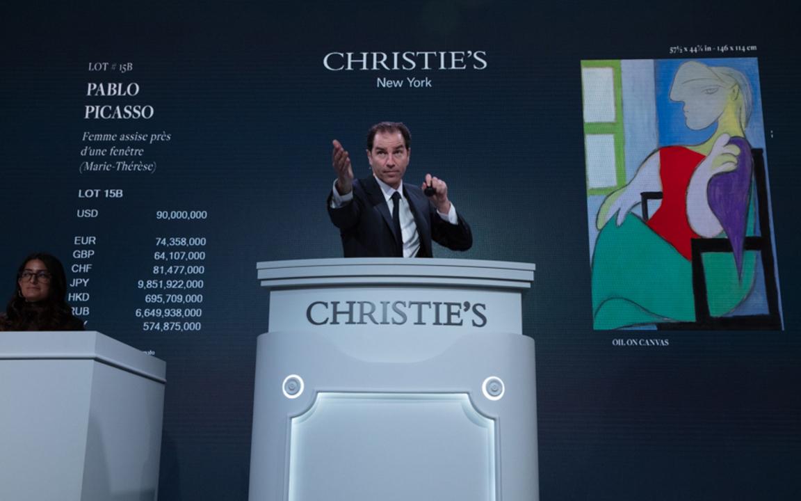 二十及二十一世纪艺术晚间拍卖成交总额逾6亿9,100万美元, auction at Christies