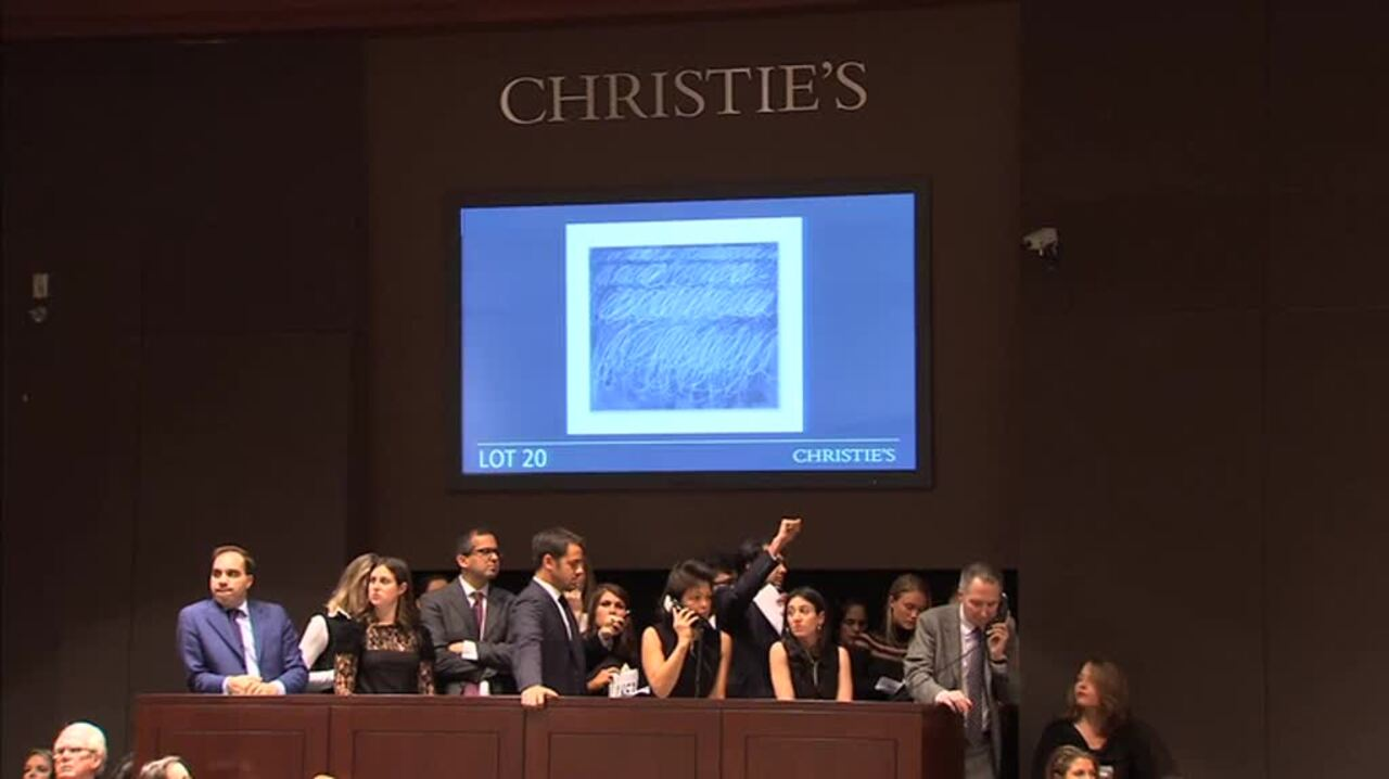 In The Saleroom: Cy Twombly's  auction at Christies