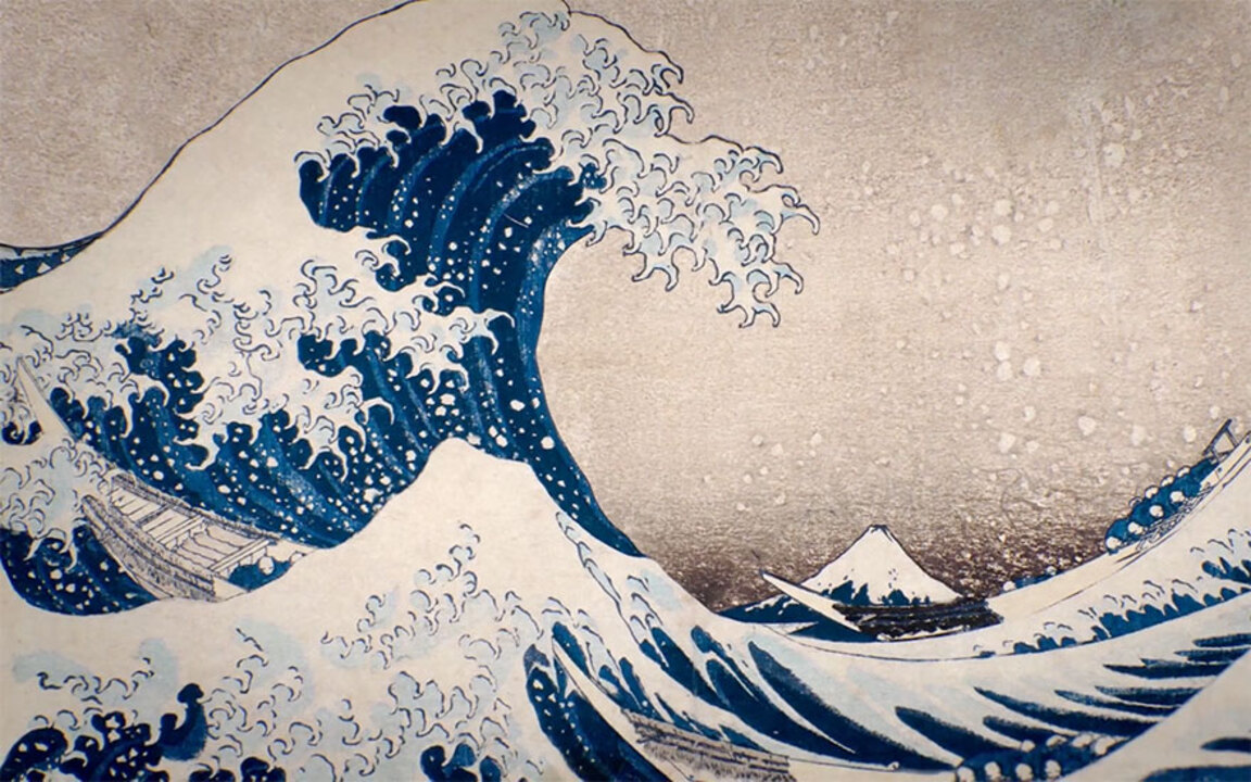 Hokusai's prints — as you've n auction at Christies