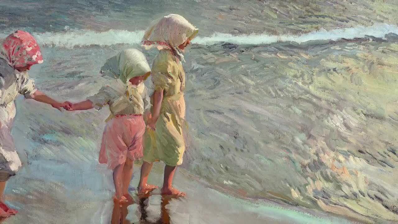 Las tres hermanas en la playa: Una importante obra maestra de Joaquín Sorolla y Bastida (Spanish)