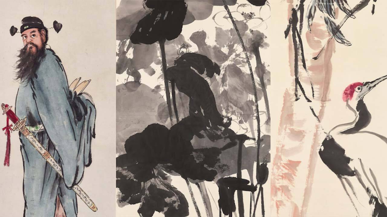 Chinese painting through the a auction at Christies