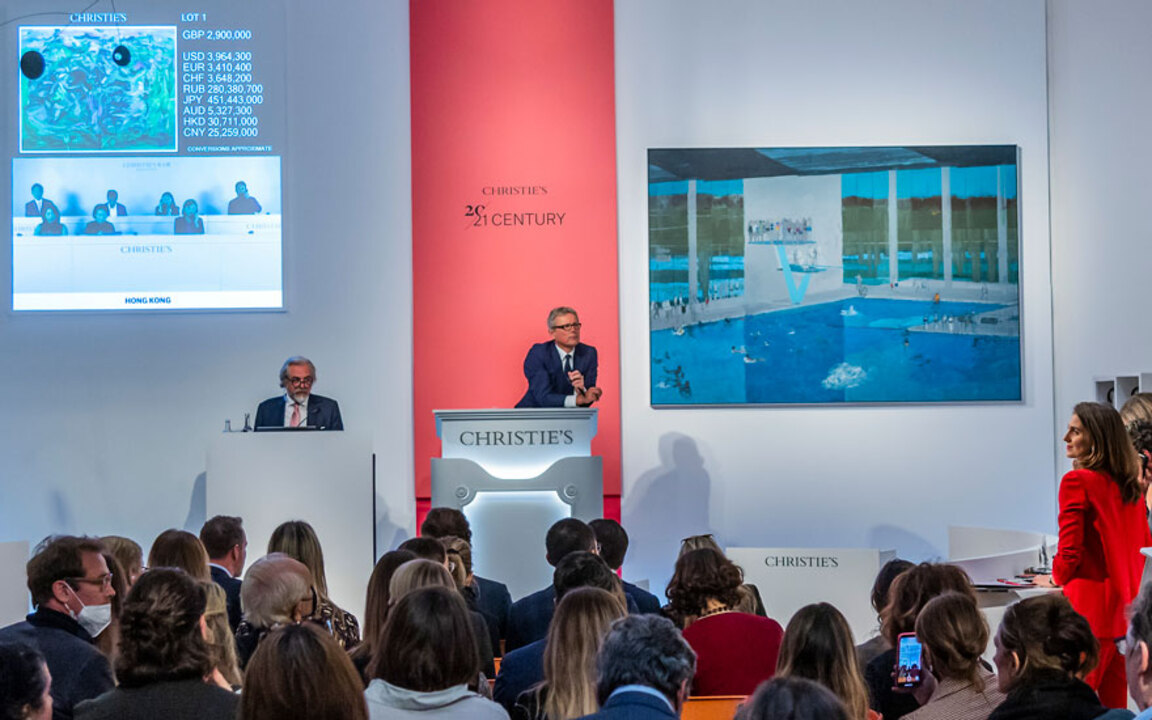 London 20th/21st Century Eveni auction at Christies