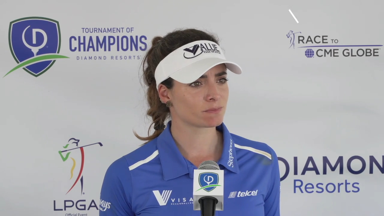 Gaby Lopez Opening Round Interview at the 2021 Diamond Resorts Tournament of Champions