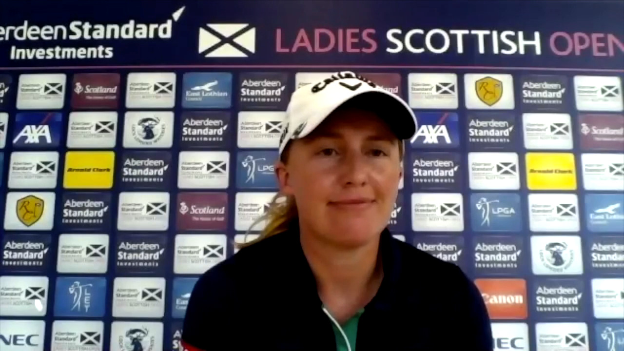 Gemma Dryburgh Opening Round Interview at the Ladies Scottish Open