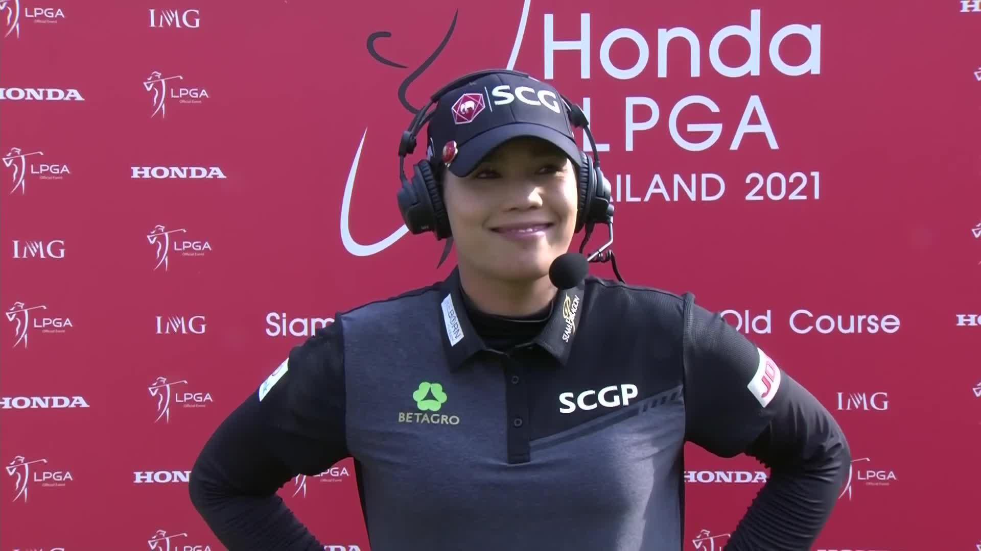Ariya Jutanugarn Final Round Interview at the 2021 Honda LPGA Thailand