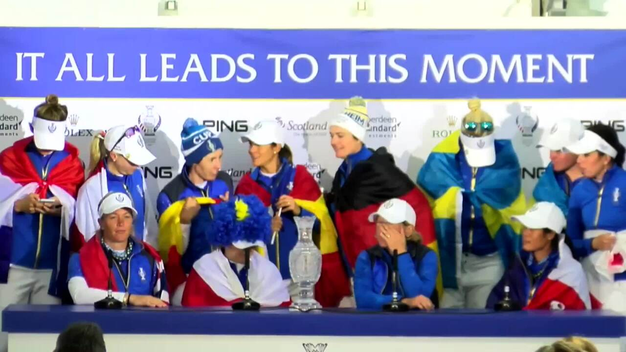 Team Europe Addresses Media Following 2019 Solheim Cup Victory