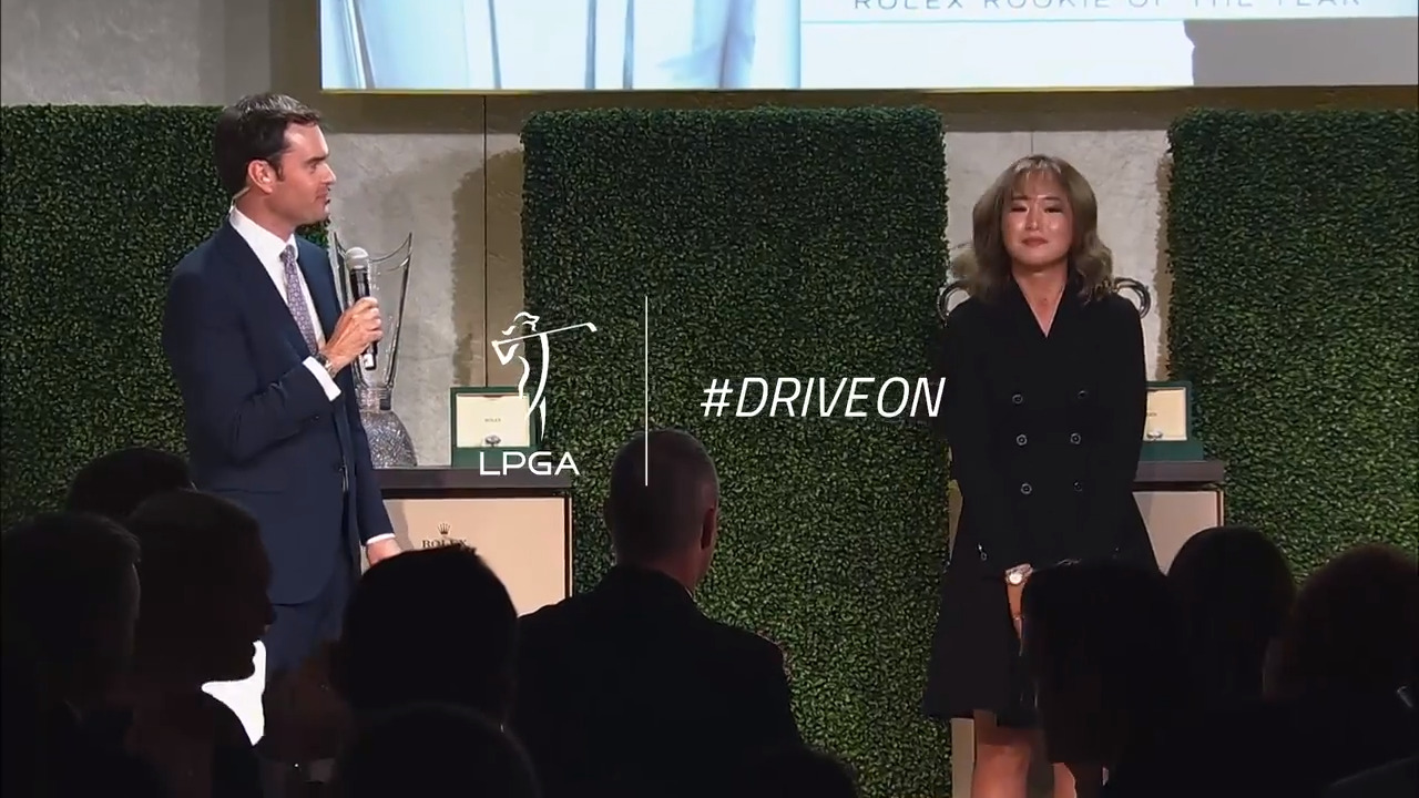 Jeongeun Lee6 Drive On - 2019 Rolex Rookie of the Year Speech