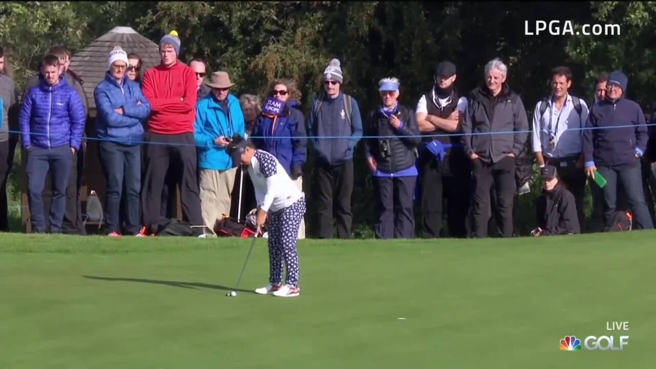 Megan Khang Halved Sunday Singles Match at the 2019 Solheim Cup