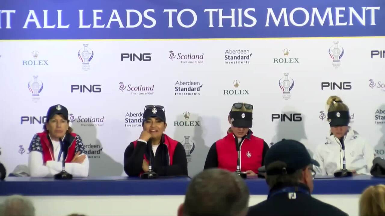 Team USA Captain Inkster with the Korda Sisters and Salas Discuss Play at the 2019 Solheim Cup