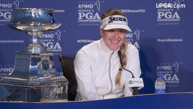 Hannah Green Draws Inspiration from Young Fan at the 2019 KPMG Women's PGA Championship