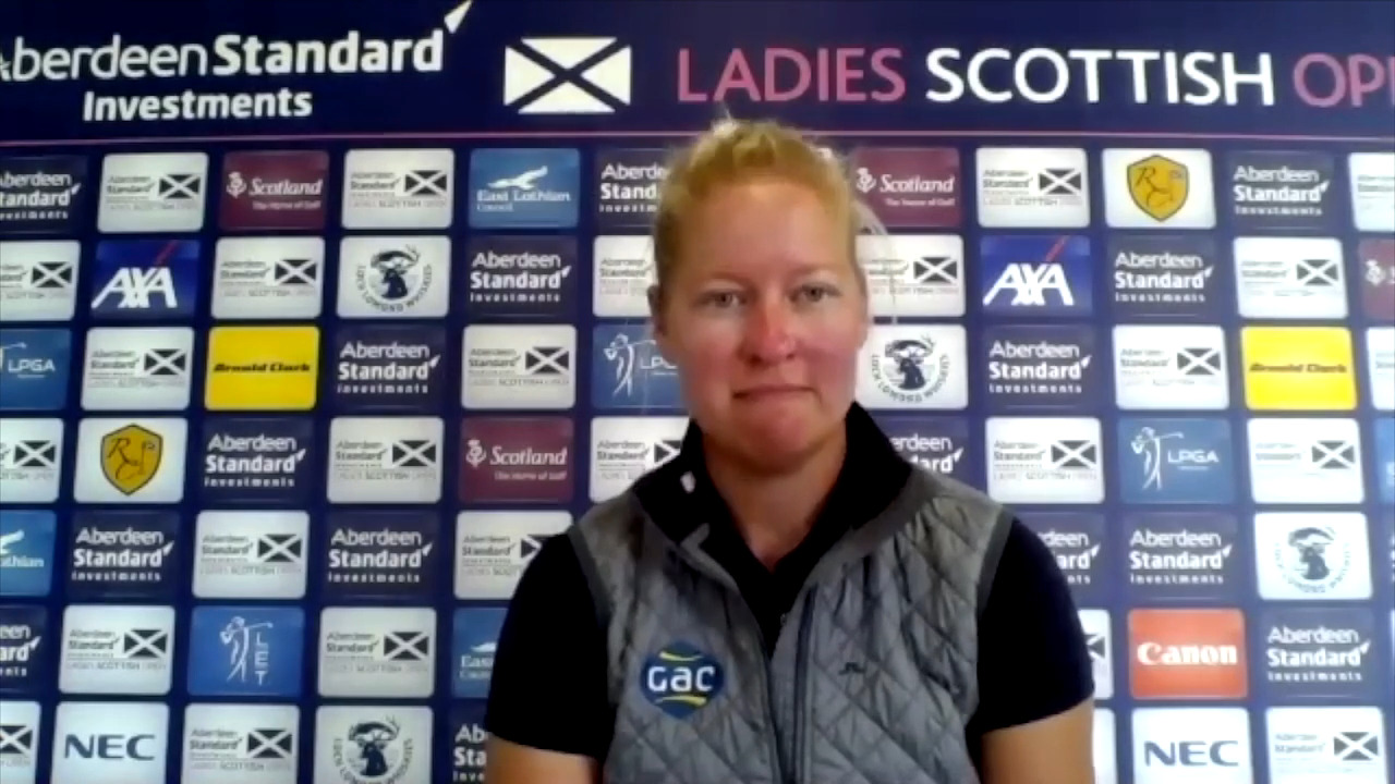 Nicole Broch Larsen Opening Round Interview at the Ladies Scottish Open