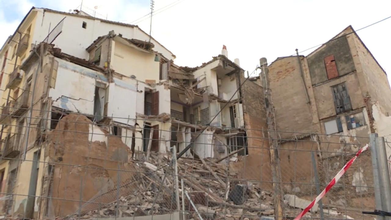 S'assola un altre edifici a Alcoi a causa de la borrasca Gloria