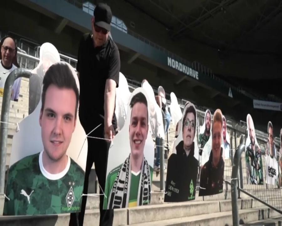 El Borussia Mönchengladbach instal·la fotografies dels seus socis a les graderies
