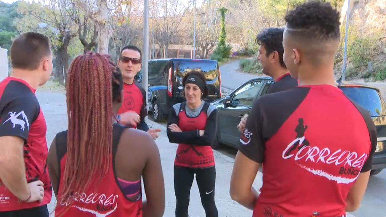 Grup de corredors a Buñol
