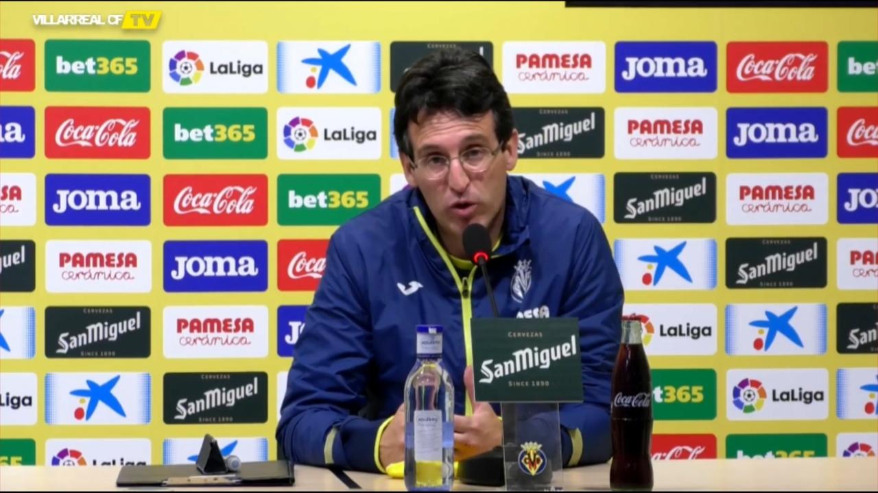 Unai Emery durant la roda de premsa prèvia al partit contra el Betis