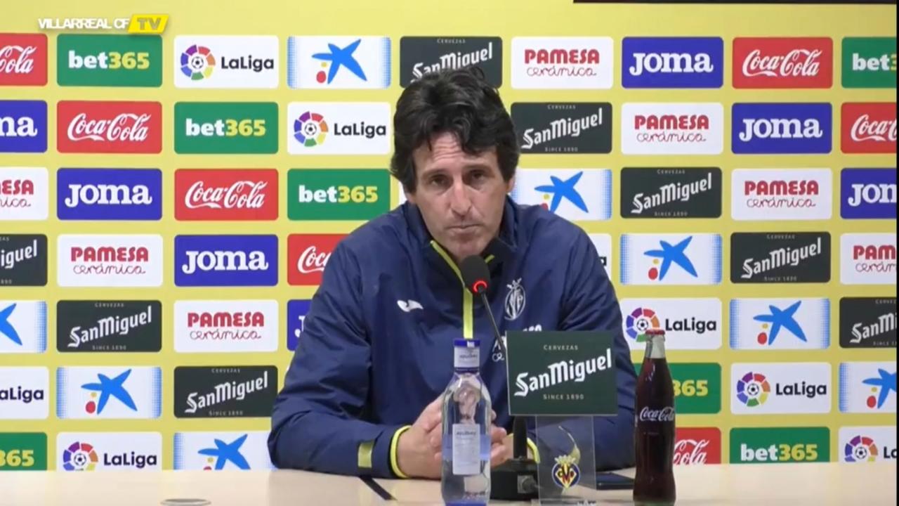 L'entrenador del Vila-real, Unai Emery, aquest dilluns