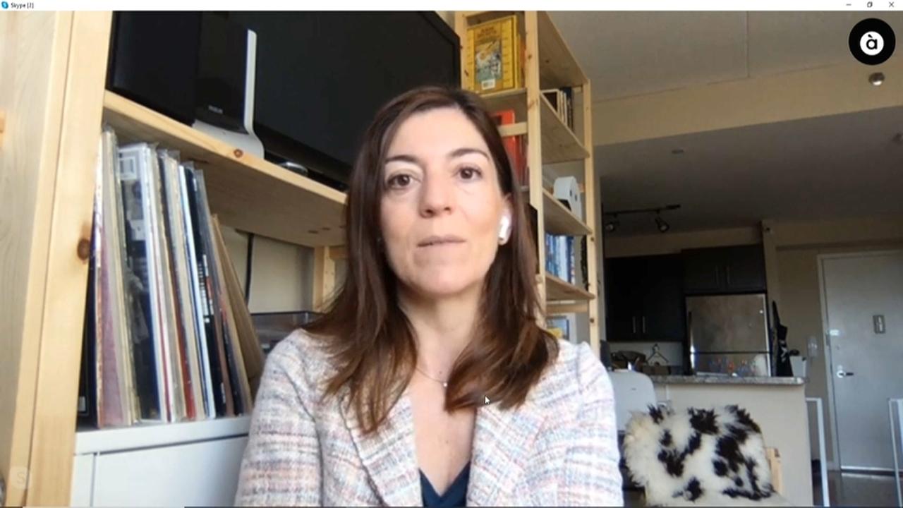 María Lahuerta, especialista valenciana en malalties infeccioses a l'ICAP, centre d'investigació de la Universitat de Columbia de Nova York