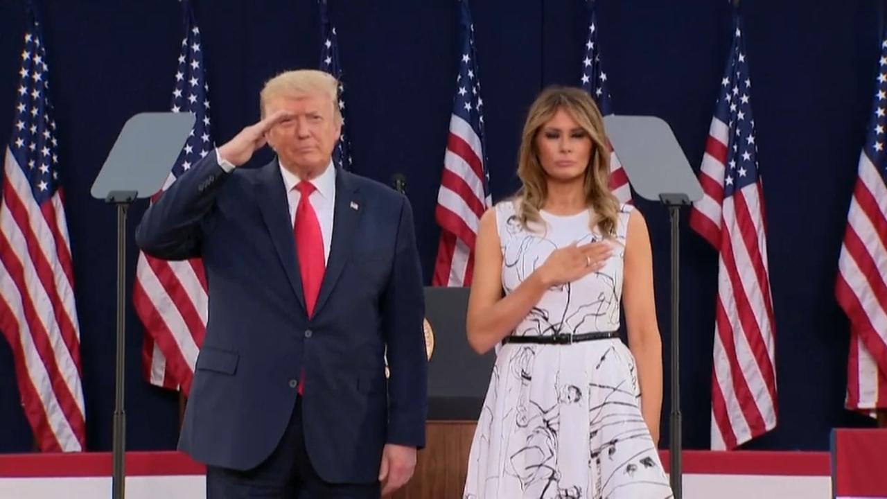 Trump celebra el 4 de juliol a Rushmore