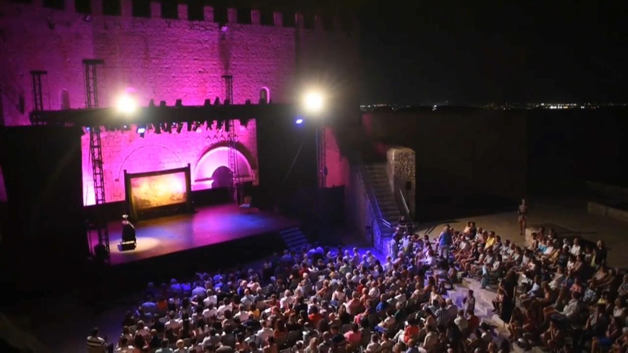 El pati del castell durant una representació