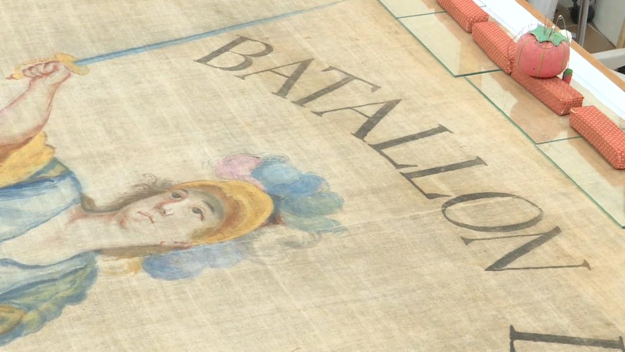 L'Institut Valencià de Conservació treballa amb aquesta peça que els acompanyà a lluitar a la guerra de la Independència
