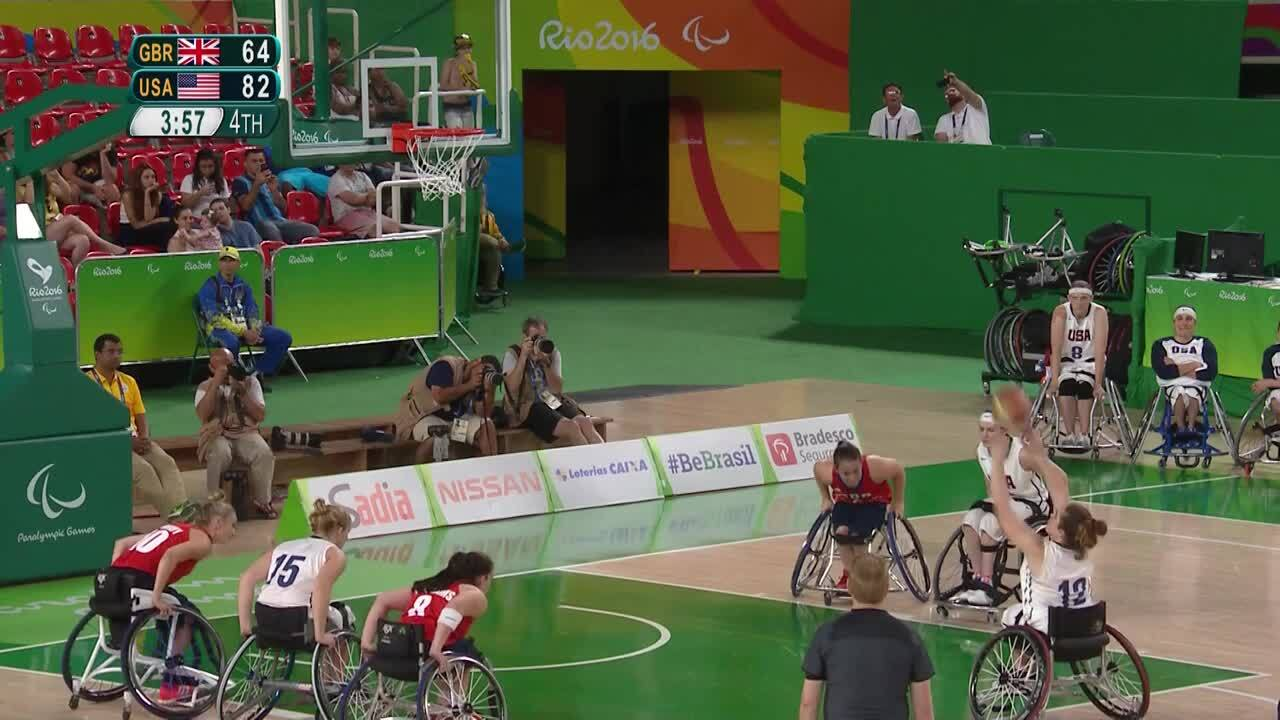 Women Wheelchair Basketball | USA vs Great Britain Semifinal | 2016 Paralympic Games