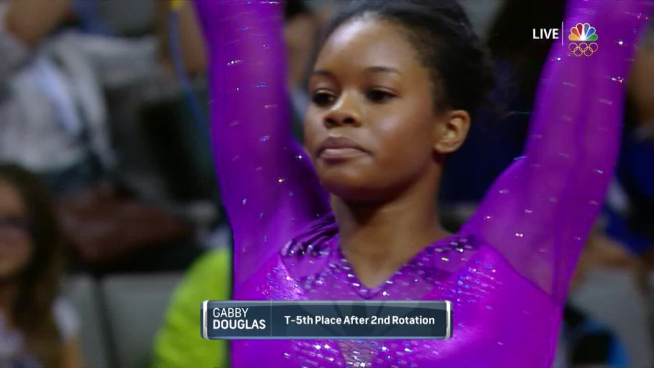 Olympic Gymnastics Trials   Gabby Douglas Excels On Uneven Bars