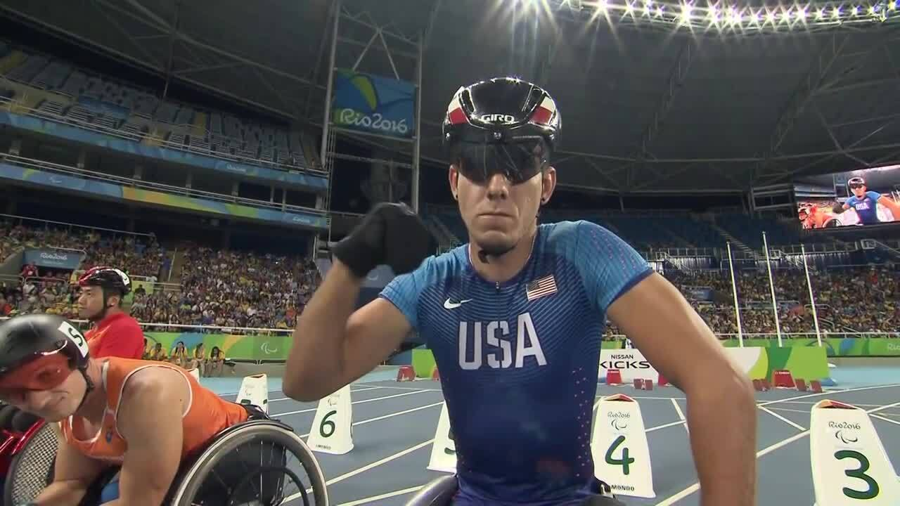 Erik Hightower | Men's 100m T54 Final | 2016 Paralympic Games