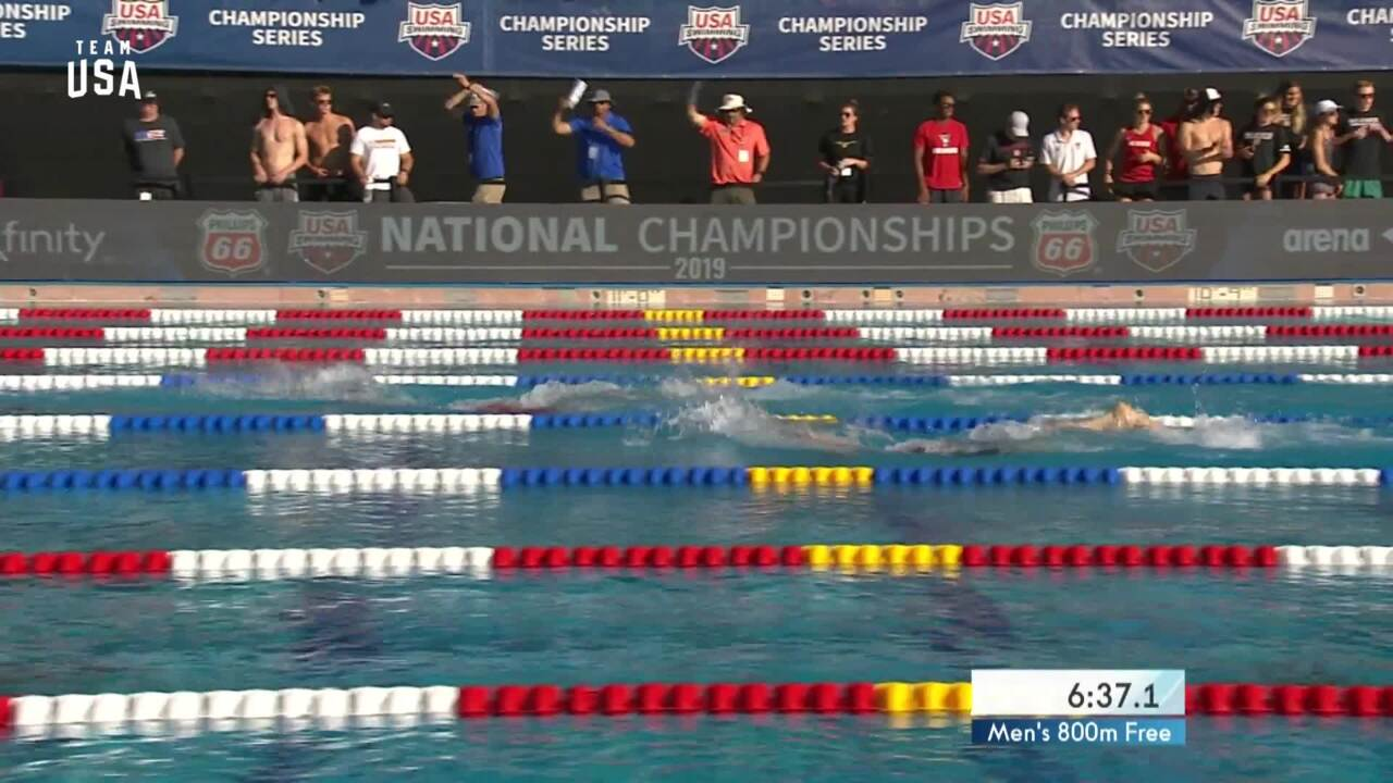 Bobby Finke Wins The Men's 800-meter Freestyle | Champions Series Presented By Xfinity