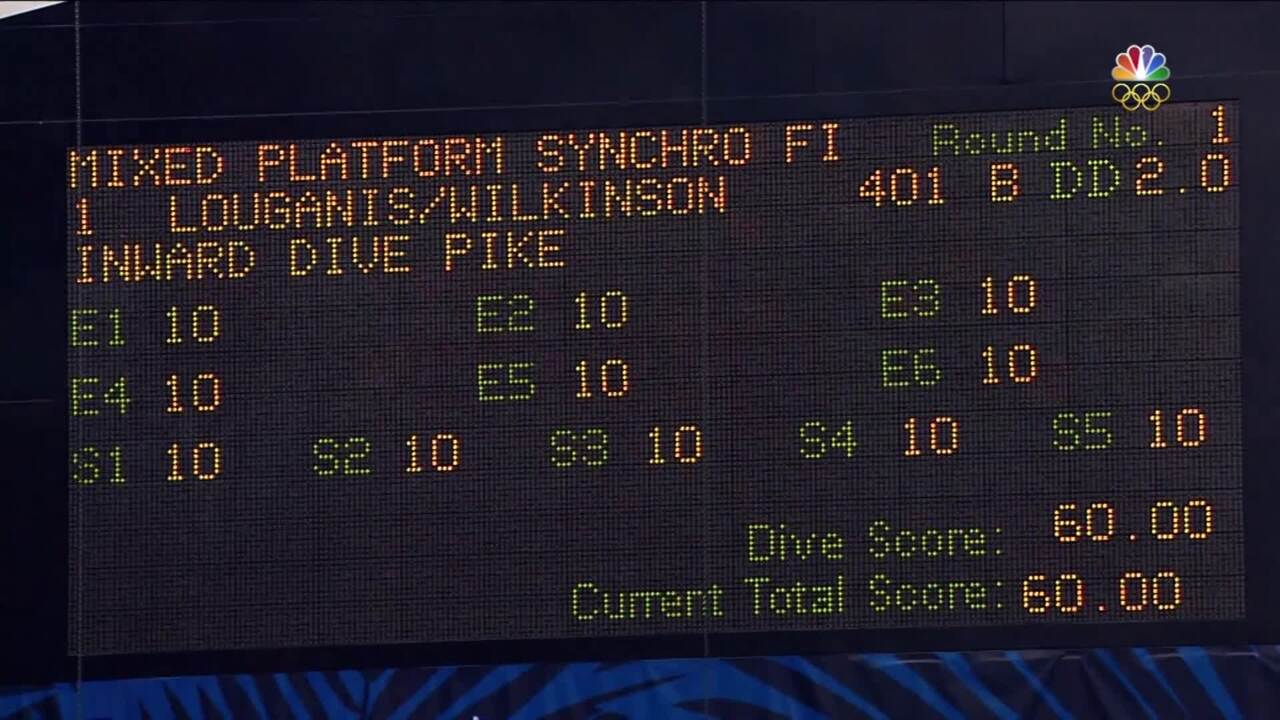 Olympic Diving Trials | Louganis And Wilkinson Perform Synchro Platform Dive