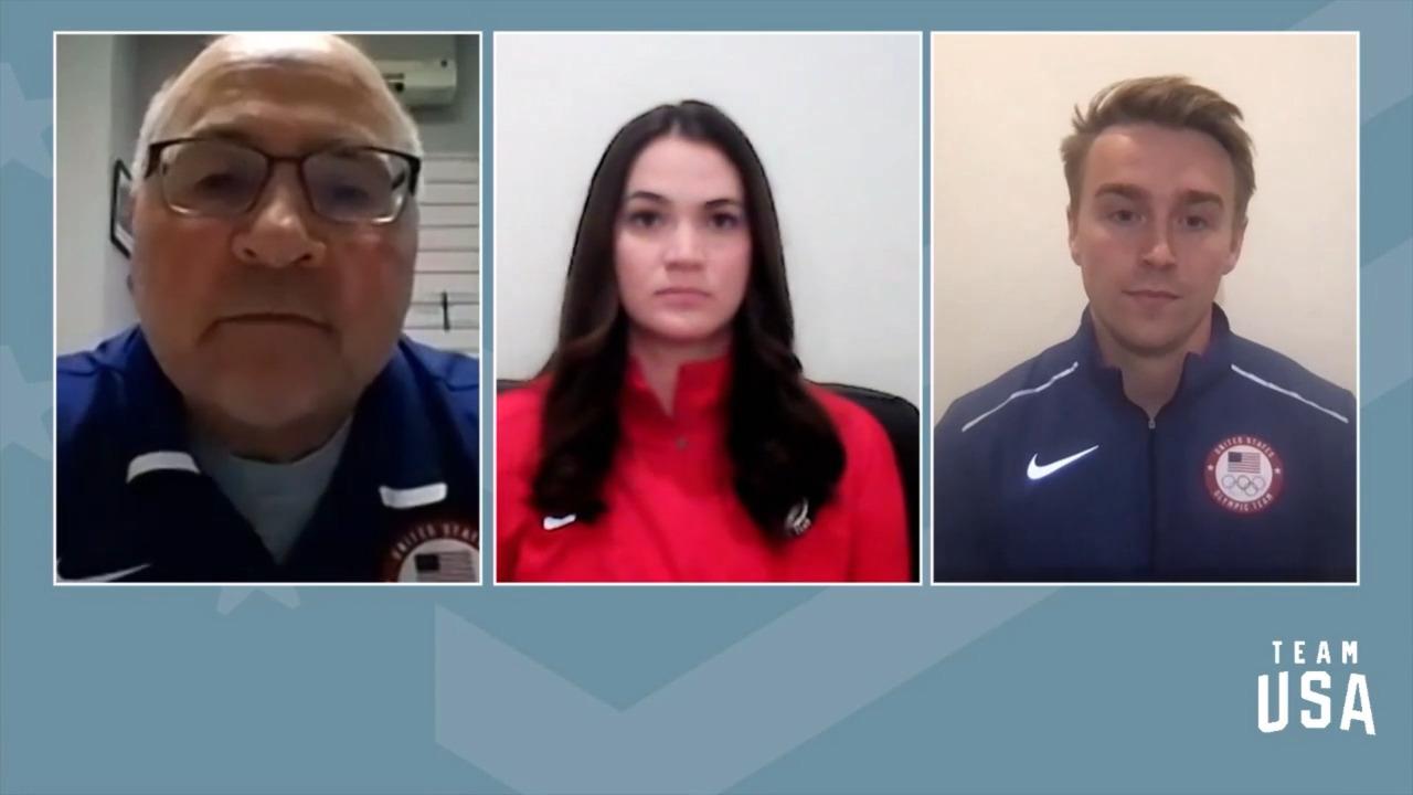 Summer Britcher, Tucker West | Beijing 2022 Team USA Media Summit