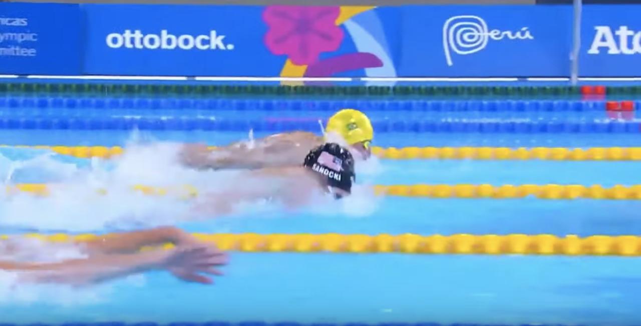Carson Sanocki Sets Parapans Record In SM13 200M Individual Medley | Parapan American Games Lima 2019