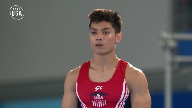 Gymnast Brandon Briones At The Youth Olympic Games
