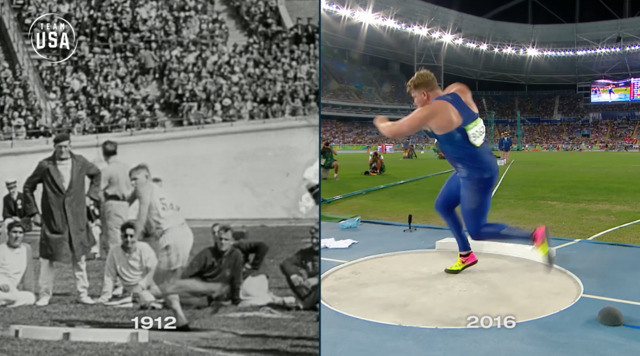 Then & Now: Shot Put