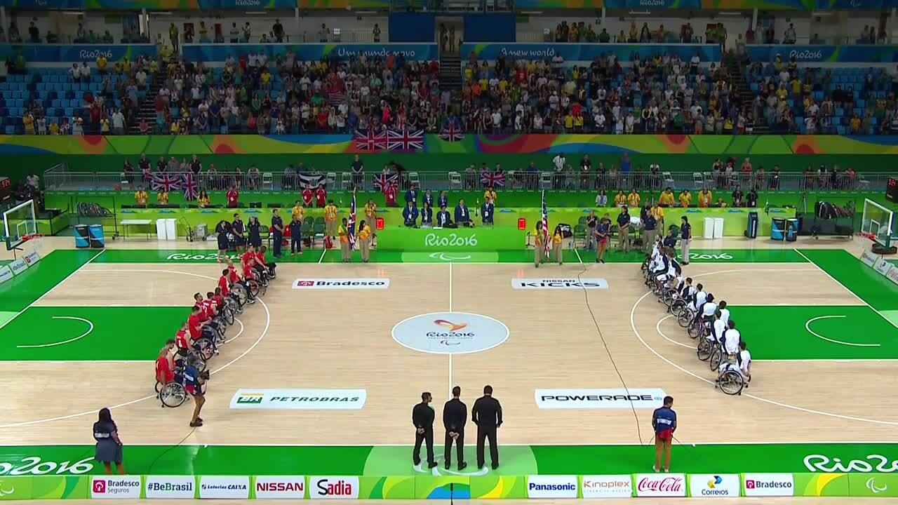 Men's Wheelchair Basketball | USA vs GBR Group B Preliminary | 2016 Paralympic Games