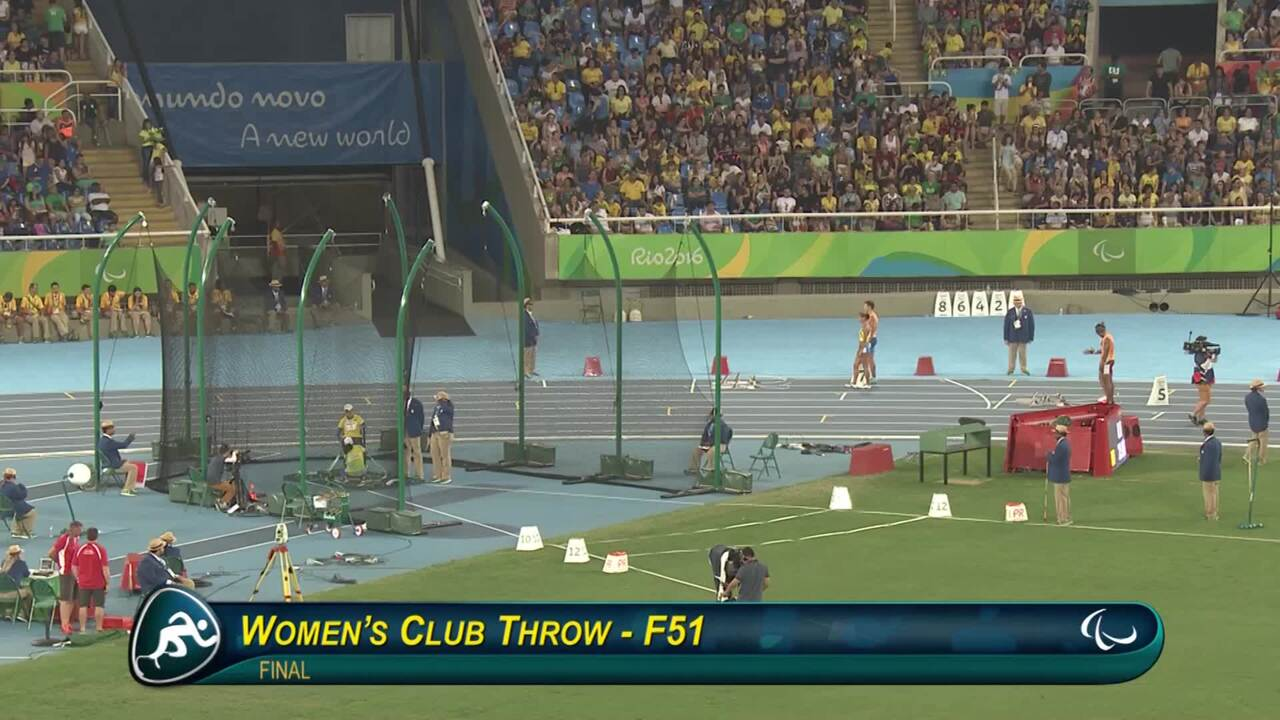 Cassie Mitchell | Bronze Women's F51 Club Throw | 2016 Paralympic Games