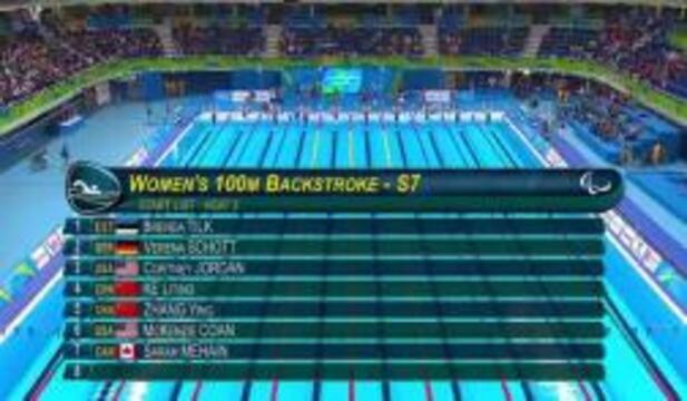 Coan, Jordan | Women's 100m Backstroke S7 Heat | 2016 Paralympic Games
